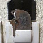 Room No. 309 Key. Old fashioned Door Locking System