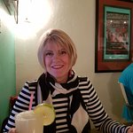 Pam with a yummy Margarita