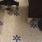 The original floor tiles