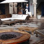 A cosy firepit in the central courtyard. Lovely place to relax evenings with a drink and live mu