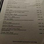 Appetizer & soup menu