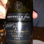 One of the whites from Burgundy we enjoyed with our dinner