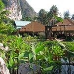 Rear view of Thai restaurant