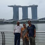 View from Merlion Park of MBS