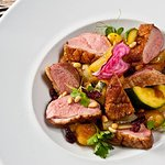 DUCK BREAST with gnocchi and saffron vegetables