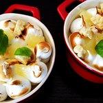 Crémeux citron Yuzu meringué, shortbread et basilic