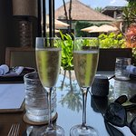 Great food & wine, excellent champagne, awesome view