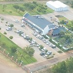 Arial Photo of Aviators Brewery with our Helipad and Hangars