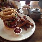 My delicious vegetarian burger :)