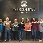 This is my team! We did not escape but we did have fun and escaped the office for a while.