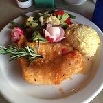 Sautéed grouper, potatoes, and veggies.