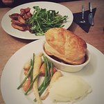 Steak and ale pie here is a must