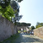 The way down the Aventine Hill to Trastevere.