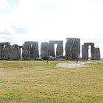 walking up to Stonehenge