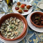 Clams, shrimps & chorizo