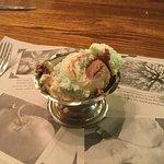 Spumoni ice cream.