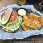 Awesome Grouper sandwich