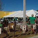 The back yard tent at The British Open Pub on St. Patrick's Day