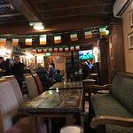 Inside the inn during the rugby match