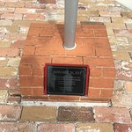 Flagpole plaque