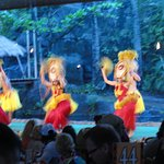 dancing during the Luau