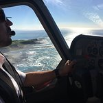 An amazing flight with Jamie, we saw 5 blue wales.