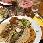Tacos and Hibiscus Cocktails