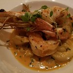 Shrimp and scallops with an amazing sauce...