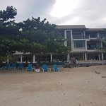 Hostel from the beach
