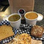 Take out... GF soup, GF bread and GF scone