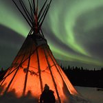 Photo of the Northern Lights we saw while at Blachford