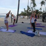 Guests at the Paradisus Punta Cana are enjoying the awesome yoga classes on the beach this week