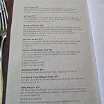 Dessert Menu Page 2