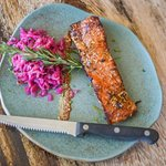 Rosemary and fennel pork belly with sauerkraut and grain mustard