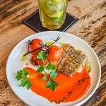 Local Barramunid with roasted cherry tomatoes and sneaky mojito
