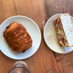 Pain Au Chocolat and Strawberry Millefeuille