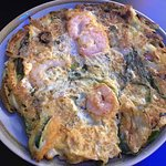Seafood omelet