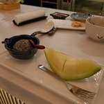 Sesame Ice Cream with Japanese Melon