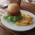 Burger and hand-cut fries