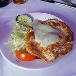 shami kebab starter wiht omlette top