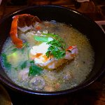 a khmer sour soup of lobster from Koh Khrod