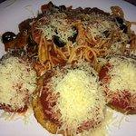 Eggplant Parmesan with Pasta
