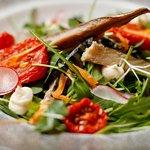 Warm Grilled Smoked Mackerel Salad
