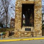 monument around the elm