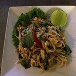 Delicious banana flower salad