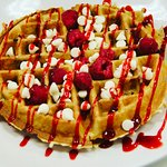 Raspberry White Chocolate Waffle