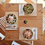 Trio maravilha. Saladas de inverno