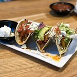 The tacos...omg. From L-R: Bison, Chicken & Avocado, and Fish. Delicious!