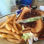 Turkey BLT with fries