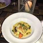Grouper with Thai curry